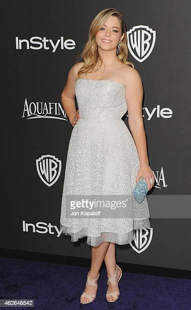 Actress Sasha Pieterse arrives at the 16th Annual Warner Bros And InStyle PostGolden Globe Party at The Beverly Hilton Hotel on January 11 2015 in...