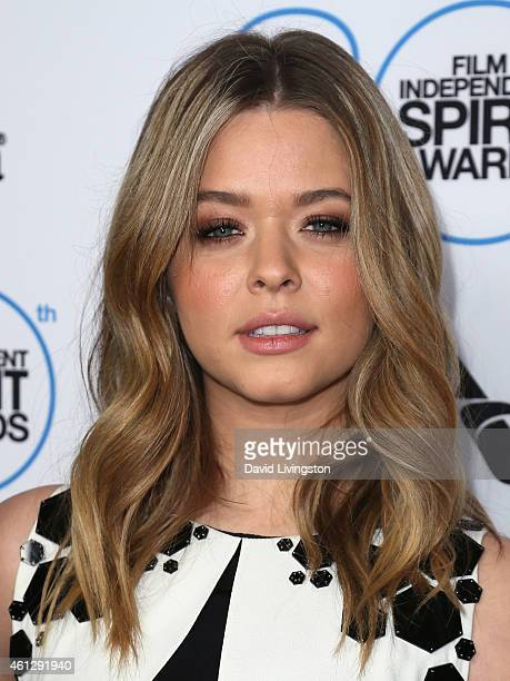 Actress Sasha Pieterse attends the 2015 Film Independent Filmmaker Grant and Spirit Awards Nominees Brunch at BOA Steakhouse on January 10 2015 in...