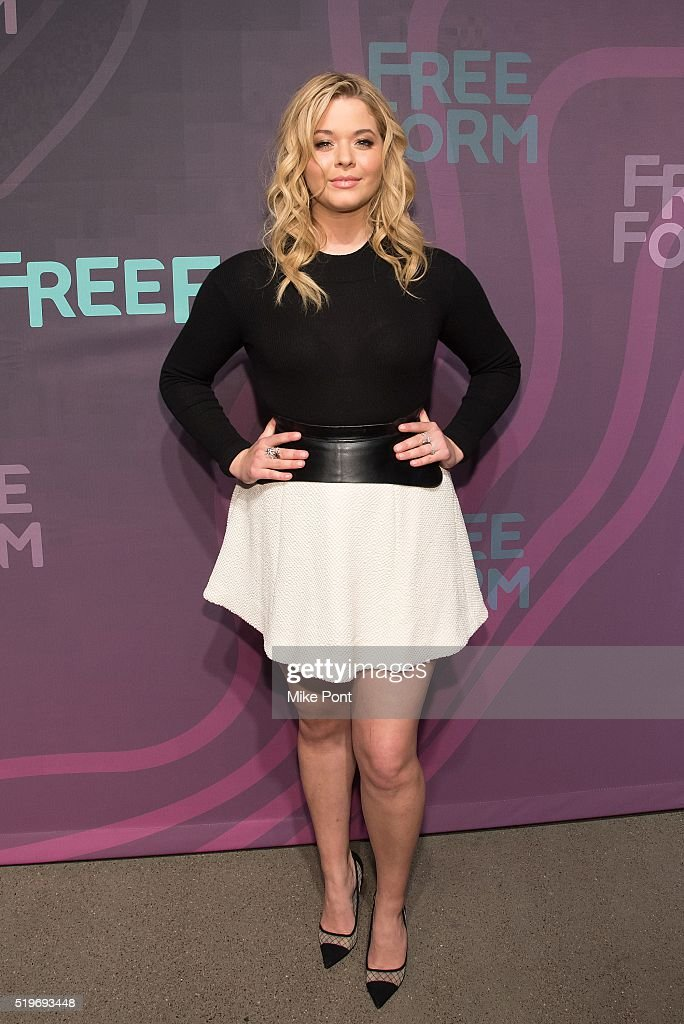 Actress Sasha Pieterse attends the 2016 Freeform Upfront at Spring Studios on April 7, 2016 in New York City.