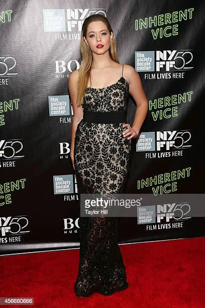 Actress Sasha Pieterse attends the Centerpiece Gala Presentation And World Premiere Of 'Inherent Vice' during the 52nd New York Film Festival at...