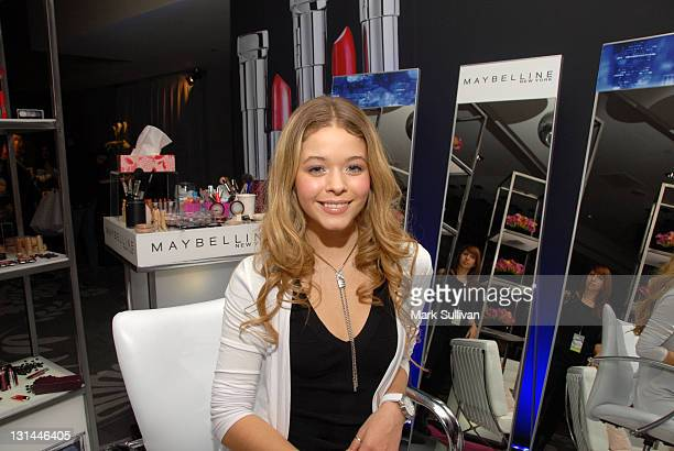 Actress Sasha Pieterse attends the CVS Pharmacy Beauty Club at the Access Hollywood Stuff You Must Lounge produced by On 3 Productions at the Sofitel...