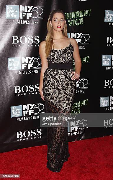 Actress Sasha Pieterse attends the 'Inherent Vice' Centerpiece Gala Presentation World Premiere during the 52nd New York Film Festival at Alice Tully...