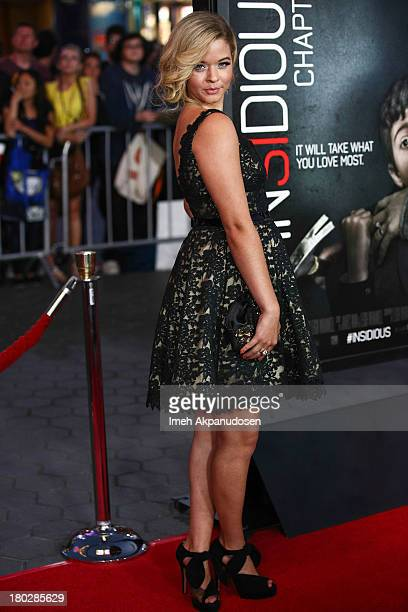 Actress Sasha Pieterse attends the premiere of FilmDistrict's 'Insidious Chapter 2' on September 10 2013 in Universal City California