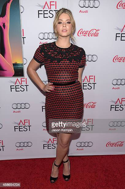 Actress Sasha Pieterse attends the screening of 'Inherent Vice' during AFI FEST 2014 presented by Audi at the Egyptian Theatre on November 8 2014 in...