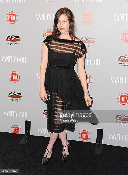 Actress Sasha Spielberg attends the Vanity Fair Campaign Hollywood 'Young Hollywood' party sponsored by Fiat at No Vacancy on February 25 2014 in Los...