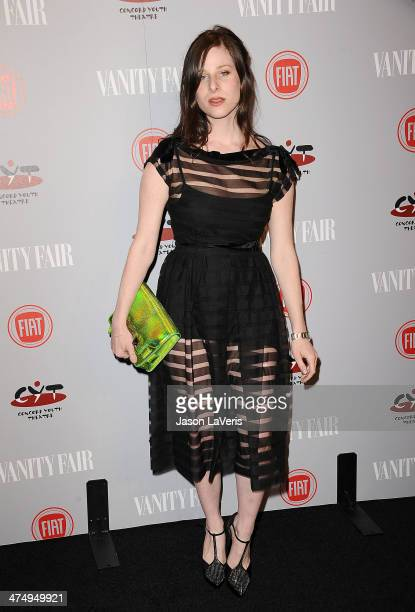 Actress Sasha Spielberg attends the Vanity Fair Campaign Young Hollywood party at No Vacancy on February 25 2014 in Los Angeles California