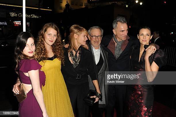 Actress Sasha Spielberg Destry Allyn Spielberg actress Kate Capshaw director Steven Spielberg actor Daniel DayLewis and filmmaker Rebecca Miller...