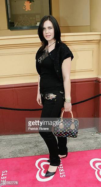 Actress Saskai Burmeister arrives at the Paddington Town Hall for the NW Oscars Lunch February 28, 2005 in Sydney, Australia.