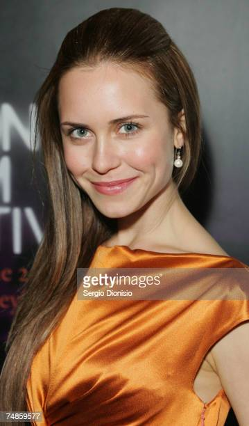"""Actress Saskia Burmeister arrives at the Australian premiere of """"The Jammed"""" at Greater Union George St on June 22, 2007 in Sydney, Australia."""