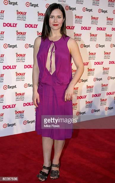 Actress Saskia Burmeister arrives for the third annual Dolly Teen Choice Awards at Luna Park on August 13 2008 in Sydney Australia