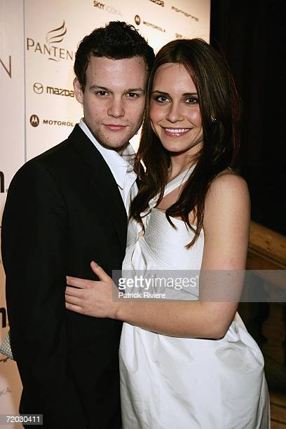 Actress Saskia Burmeister her friend Jamie Croft arrive at the inaugural Pantene Young Woman of the Year Awards at Sydney Town Hall on September 28,...