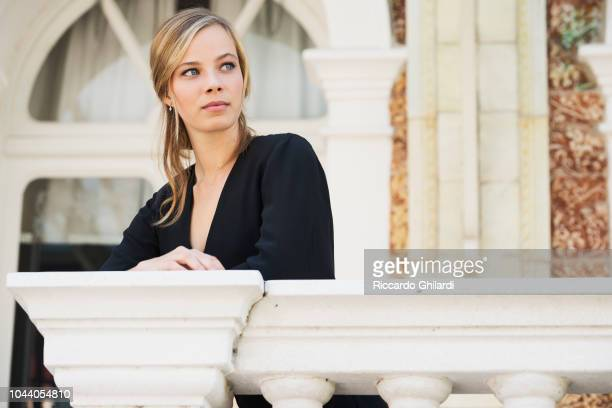Actress Saskia Rosendahl is photographed for Self Assignment on September 2018 in Venice Italy