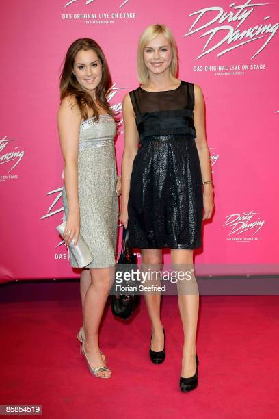 Actress Saskia Valencia and daughter Alexandra Valencia attend the musical premiere of 'Dirty Dancing' at Potsdamer Platz Theater on April 07 2009 in...