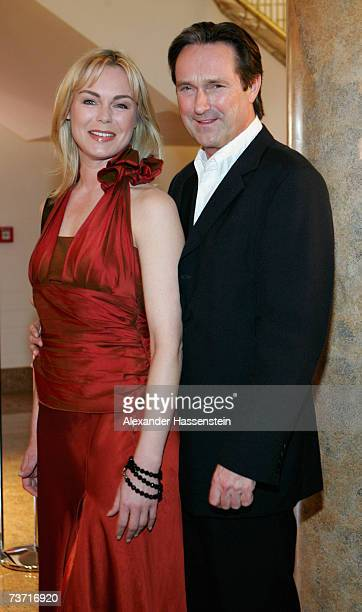 Actress Saskia Valencia arrives with Helmut Zierl for the Herbert Award 2006 Gala at the Elysee Hotel on March 26 2007 in Hamburg Germany