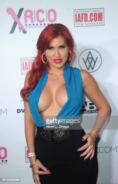 Actress Savana Styles arrives for the 33rd Annual XRCO Awards Show held at OHM Nightclub on April 27 2017 in Hollywood California