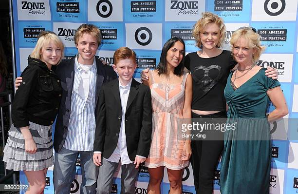 Actress Savanah Wiltfong actor Shayne Topp actor Zane Huett director Suzi Yoonessi actress Elaine Hendrix and actress Melissa Leo attend the 2009 Los...