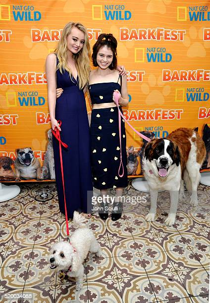 Actress Savannah Kennick and actress Madeleine Coghlan attend National Geographic Channel's Barkfest Brunch at Palihouse on April 9 2016 in West...