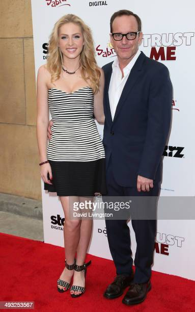 Actress Saxon Sharbino and actor/director Clark Gregg attend the Los Angeles premiere of 'Trust Me' at the Egyptian Theatre on May 22 2014 in...