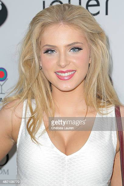 Actress Saxon Sharbino arrives at Amanda Steele's sweet 16 party on July 26 2015 in Hollywood California