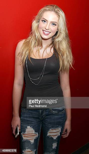 Actress Saxon Sharbino attends GenerationOn Youth Charity 2nd Annual Holiday Gift Wrapping Party Hosted By PMG at Guy's North on December 4 2014 in...