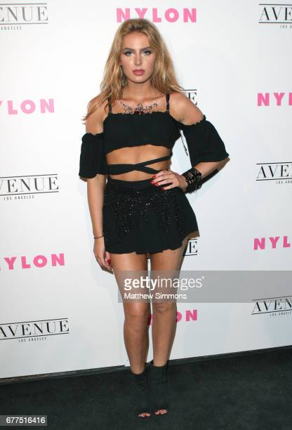 Actress Saxon Sharbino attends NYLON's Annual Young Hollywood May Issue Event at Avenue on May 2 2017 in Los Angeles California