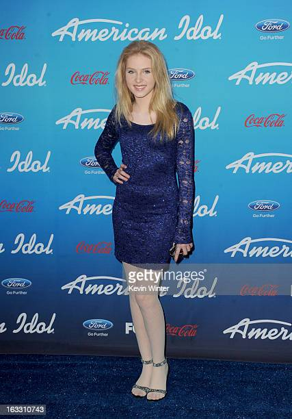 Actress Saxon Sharbino attends the FOX 'American Idol' finalists party at The Grove on March 7 2013 in Los Angeles California