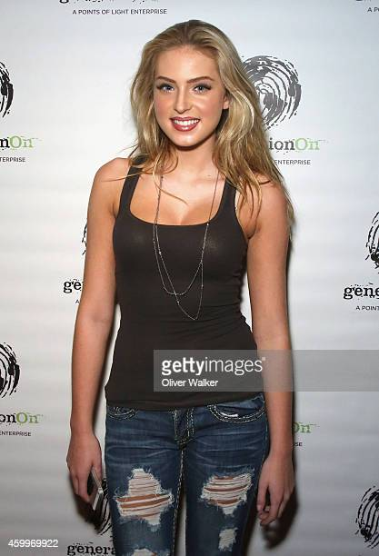 Actress Saxon Sharbino attends the GenerationOn Youth Charity 2nd Annual Holiday Gift Wrapping Party Hosted By PMG at Guy's North on December 4 2014...