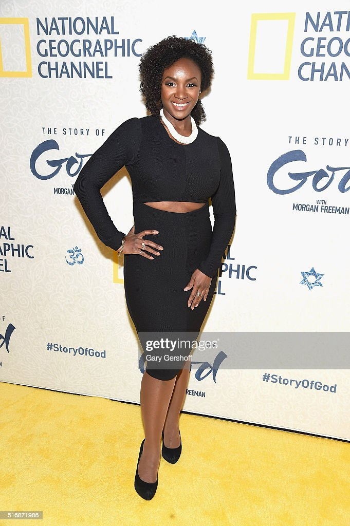 Actress Saycon Sengbloh attends the National Geographic 'The Story Of God' with Morgan Freeman world premiere at Jazz at Lincoln Center on March 21, 2016 in New York City.