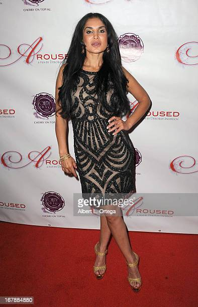 Actress Saye Yabandeh arrives for the Premiere Of 'Aroused' held at Landmark Nuart Theatre on May 1 2013 in Los Angeles California