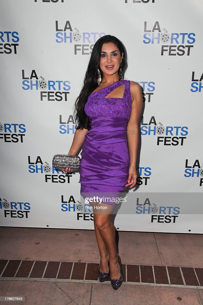 Actress Saye Yabandeh attends the opening night of the 2013 Los Angeles International Short Film Festival at Laemmle NoHo 7 on September 5, 2013 in North Hollywood, California.