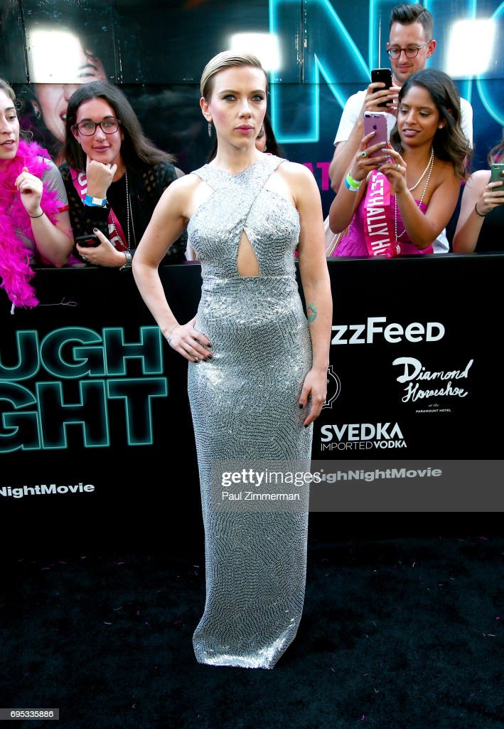 Actress Scarlet Johansson attends the 'Rough Night' New York Premiere on June 12, 2017 in New York City.