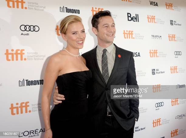Actress Scarlett Johansson and actor/filmmaker Joseph GordonLevitt arrive at the Don Jon Premiere during the 2013 Toronto International Film Festival...