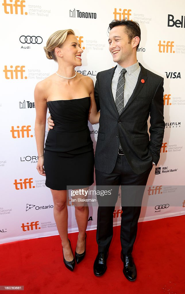 Actress Scarlett Johansson and actor/filmmaker Joseph Gordon-Levitt arrives at the 'Don Jon' Premiere during the 2013 Toronto International Film Festival at Princess of Wales Theatre on September 10, 2013 in Toronto, Canada. (Photo by Ian Blakeman/WireImage).