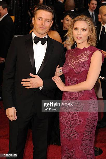 Actress Scarlett Johansson and agent Joe Machota arrive at the 83rd Annual Academy Awards held at the Kodak Theatre on February 27 2011 in Los...