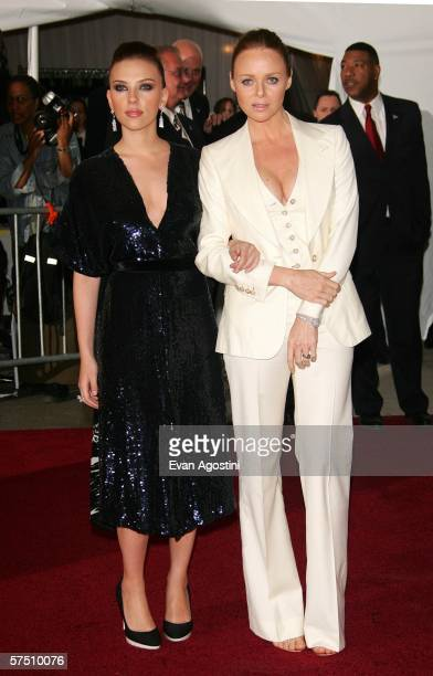 Actress Scarlett Johansson and designer Stella McCartney attend the Metropolitan Museum of Art Costume Institute Benefit Gala Anglomania at the...