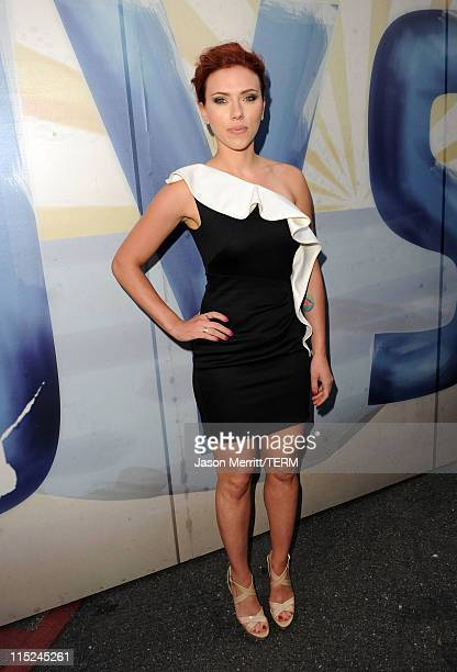Actress Scarlett Johansson arrives at Spike TV's 5th annual 2011 Guys Choice Awards at Sony Pictures Studios on June 4 2011 in Culver City California