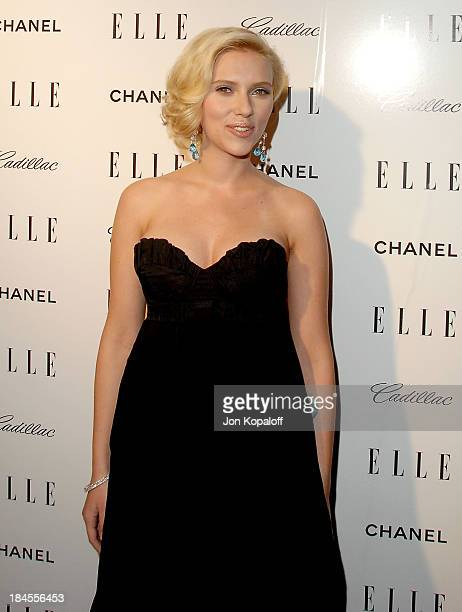 Actress Scarlett Johansson arrives at the '14th Annual Women In Hollywood' at the Four Seasons Hotel on October 15 2007 in Beverly Hills California