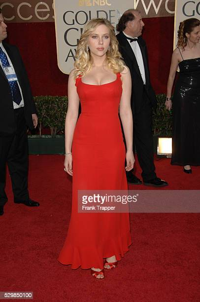 Actress Scarlett Johansson arrives at the 63rd annual Golden Globe Awards held at the Beverly Hilton Hotel