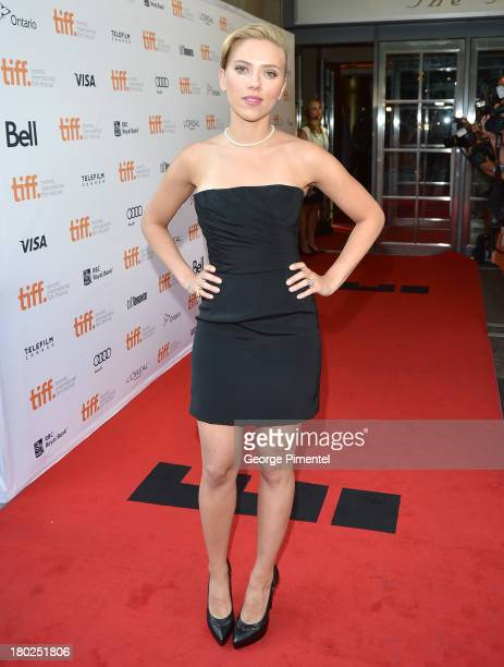 Actress Scarlett Johansson arrives at the Don Jon Premiere during the 2013 Toronto International Film Festival at Princess of Wales Theatre on...