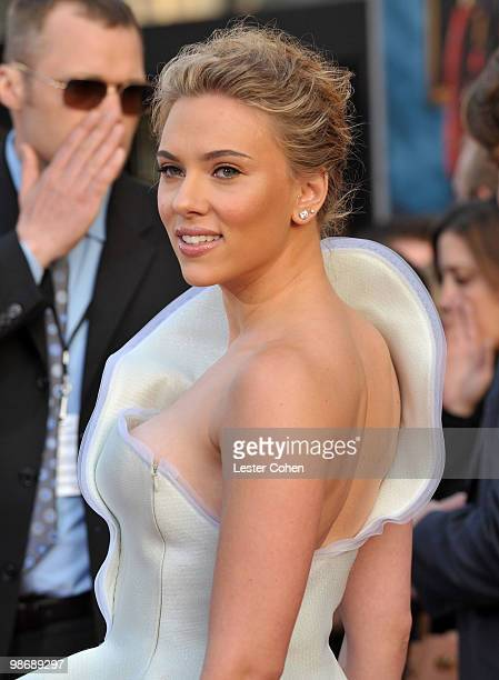 Actress Scarlett Johansson arrives at the 'Iron Man 2' world premiere held at El Capitan Theatre on April 26 2010 in Hollywood California