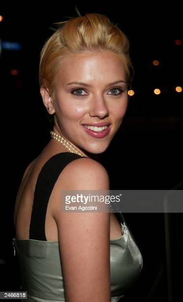 Actress Scarlett Johansson arrives at the 'Lost In Translation' premiere afterparty during the 2003 Toronto International Film Festival September 5...