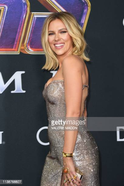"""Actress Scarlett Johansson arrives for the World premiere of Marvel Studios' """"Avengers: Endgame"""" at the Los Angeles Convention Center on April 22,..."""
