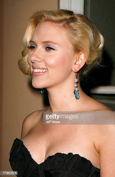 Actress Scarlett Johansson arrives to ELLE Magazine's 14th Annual Women In Hollywood at the four seasons hotel on October 15 2007 in Beverly Hills...