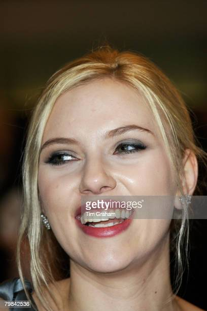 Actress Scarlett Johansson at the movie film premiere of 'The Other Boleyn Girl' held at the Odeon Cinema Leicester Square in aid of The Cinema and...