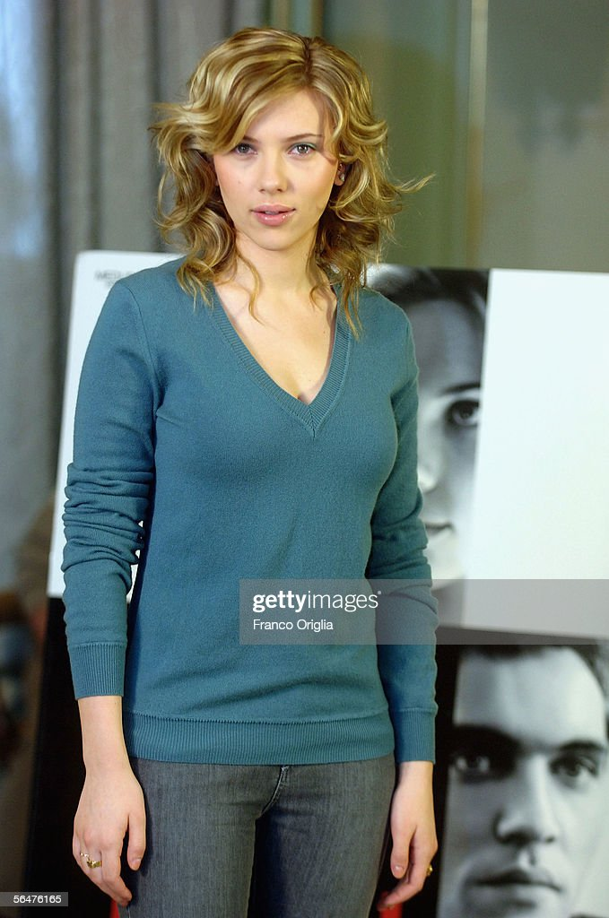 Actress Scarlett Johansson attends a photocall to promote her new film 'Match Point' at the Hasler Hotel on December 21, 2005 in Rome, Italy.