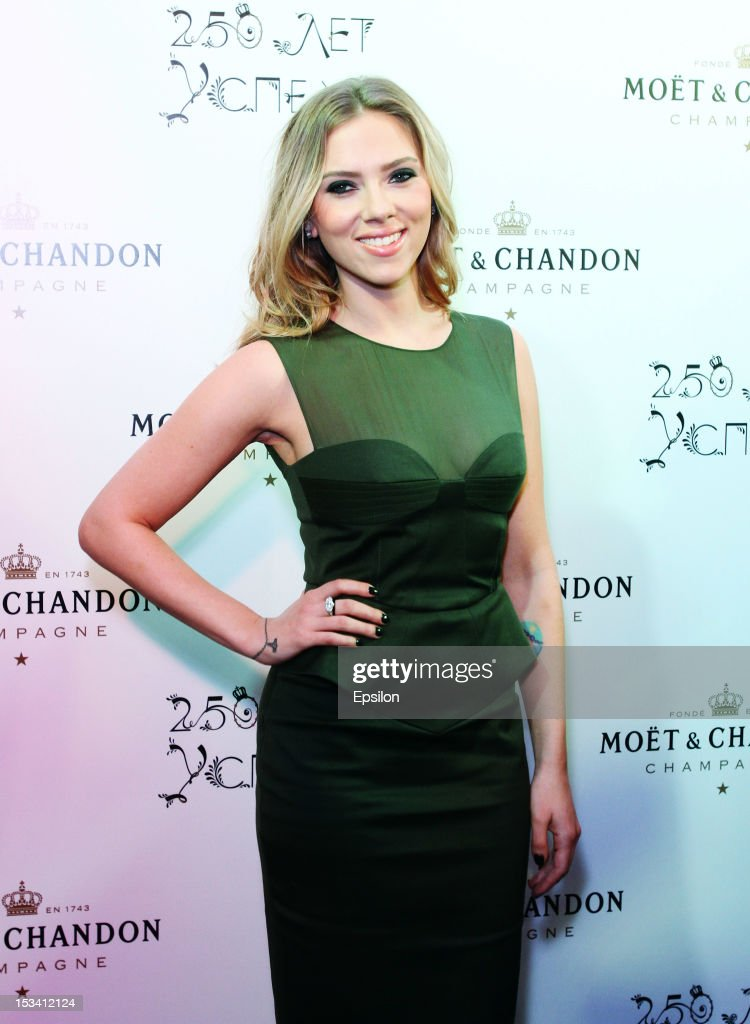 Scarlett Johansson Attends Moet Chandon 250 Anniversary In Moscow : News Photo