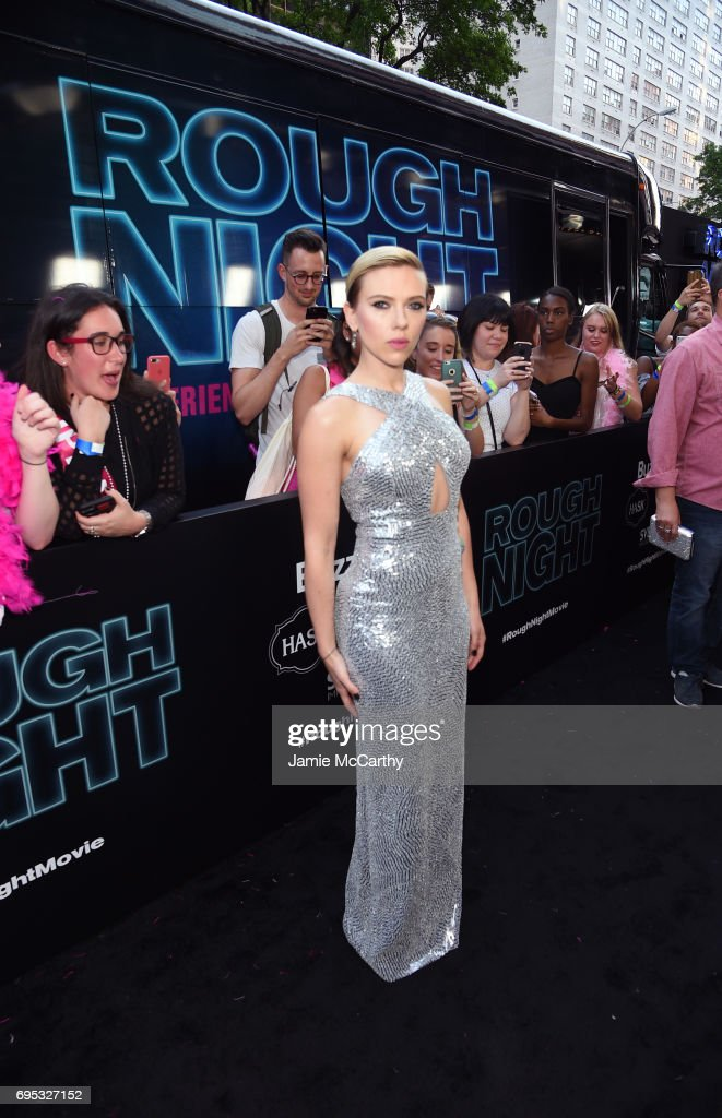 Actress Scarlett Johansson attends New York Premiere of Sony's ROUGH NIGHT presented by SVEDKA Vodka at AMC Lincoln Square Theater on June 12, 2017 in New York City.