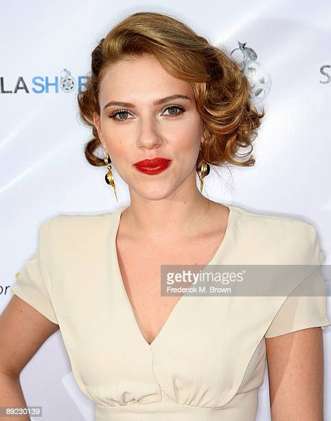 Actress Scarlett Johansson attends the 13th Annual Los Angeles Shorts Festival on July 23 2009 in West Hollywood California