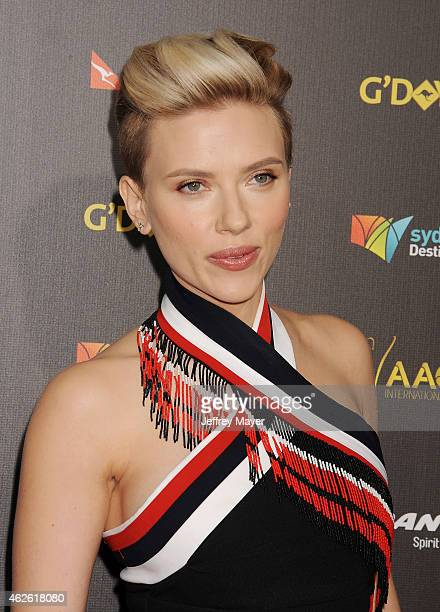 Actress Scarlett Johansson attends the 2015 G'Day USA Gala featuring the AACTA International Awards presented by Qantas at Hollywood Palladium on...