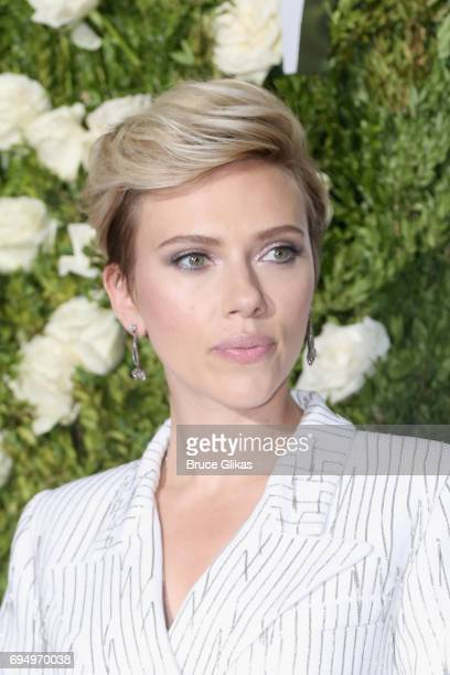 Actress Scarlett Johansson attends the 2017 Tony Awards at Radio City Music Hall on June 11 2017 in New York City